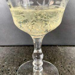 Lavender Prosecco cocktail coupe
