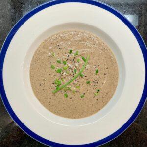 Mushroom soup full plate