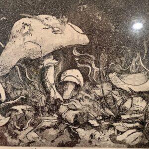 Mushroom etching