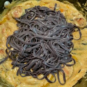voodoo pasta adding pasta