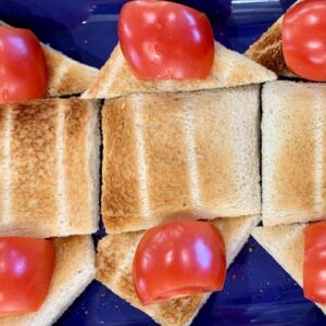 with toast and tomato
