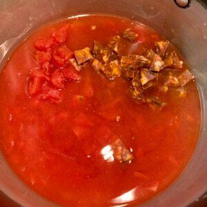 tomatoes and chorizo